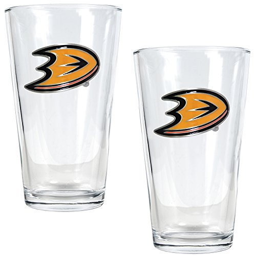 NHL Anaheim Ducks Two Piece Pint Ale Glass Set - Primary Logo
