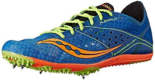 Saucony Men's Endorphin LD4 Track Shoe, Royal/Citron/Vizi Orange, 48 D(M) EU/12 D(M) UK