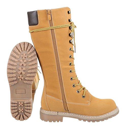 Ital-Design - Botas de Material Sintético para mujer Marrón - beige camel