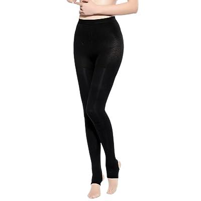 Aivtalk Collants Sculptants Femme Noir Élastique Leggings Long pour Printemps Automne Minceur Opaque Taille Haute