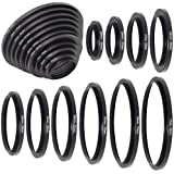 Objetivo Metal 26–30–37–43–52–55–62–67–72–77–82mm Adaptador Anillos filtro DC160