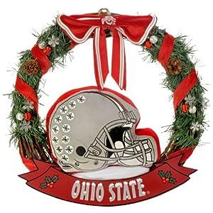 """Forever Collectibles NCAA College Team Helmet 20"""" Holiday Door Wreath 73"""