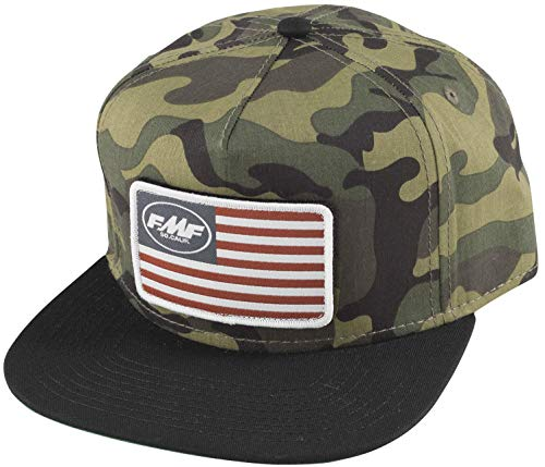 FMF Racing Stars and Bars Patch Youth Hat Camo (Green, OSFA)