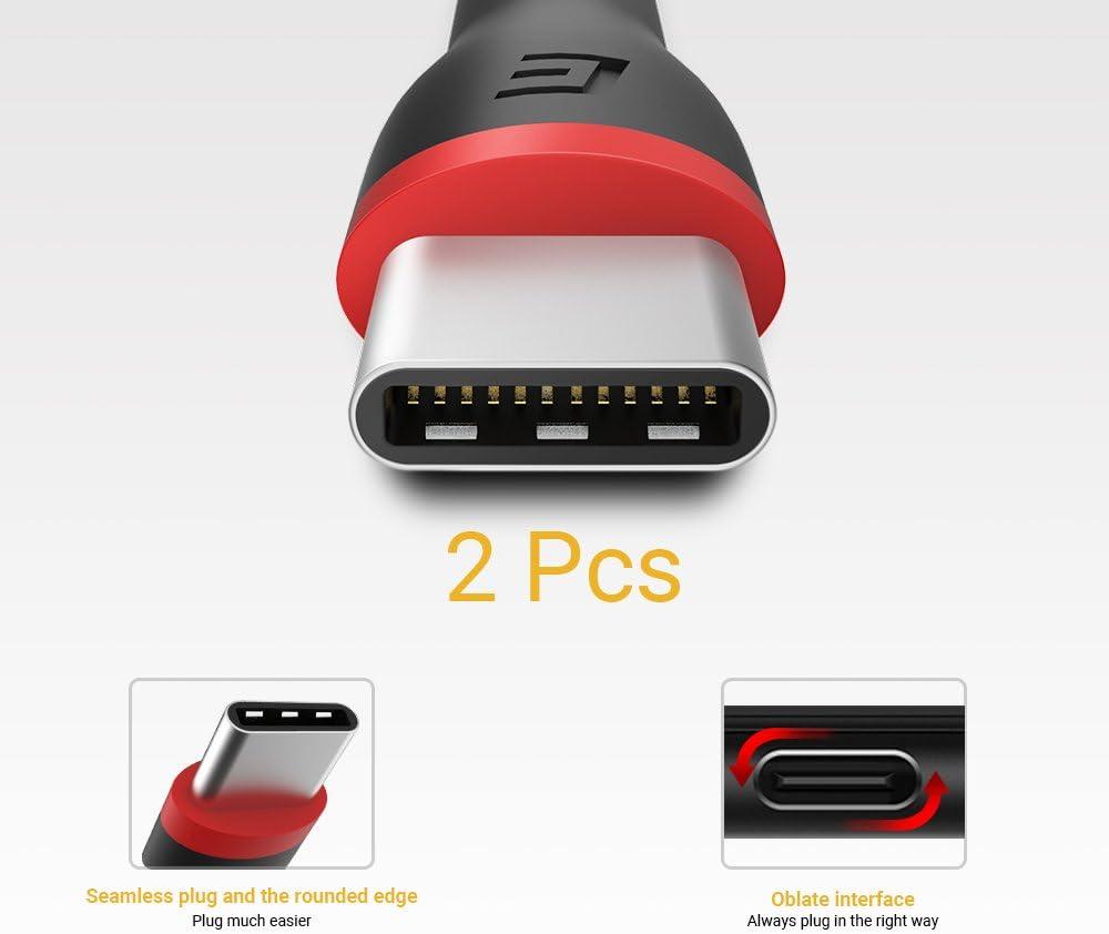 Amazon.com: Corto Cable USB C 0.5 ft [2 Pack] EasyAcc ...