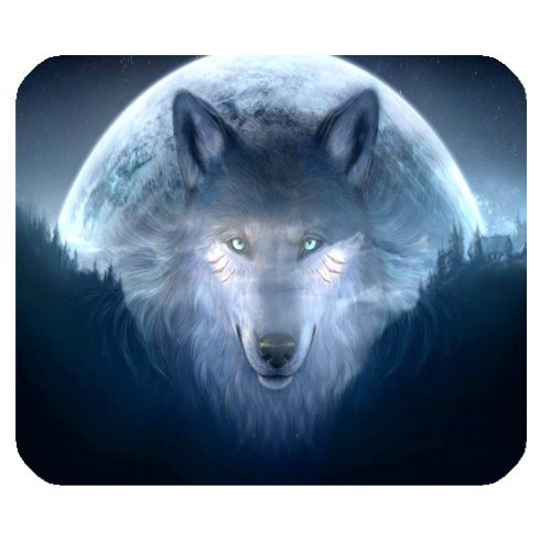 Galaxy Hipster Wolves Space Nebula Mouse Pad - Gamer Gaming Mouse