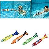 Edealing 4PCS Underwater Torpedo Rocket Swimming Pool Toy Swim Dive Sticks Holiday Games