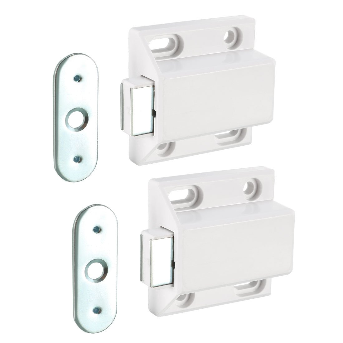 sourcingmap Magnetic Home Kitchen Cabinet Cupboard Door Catch Latch