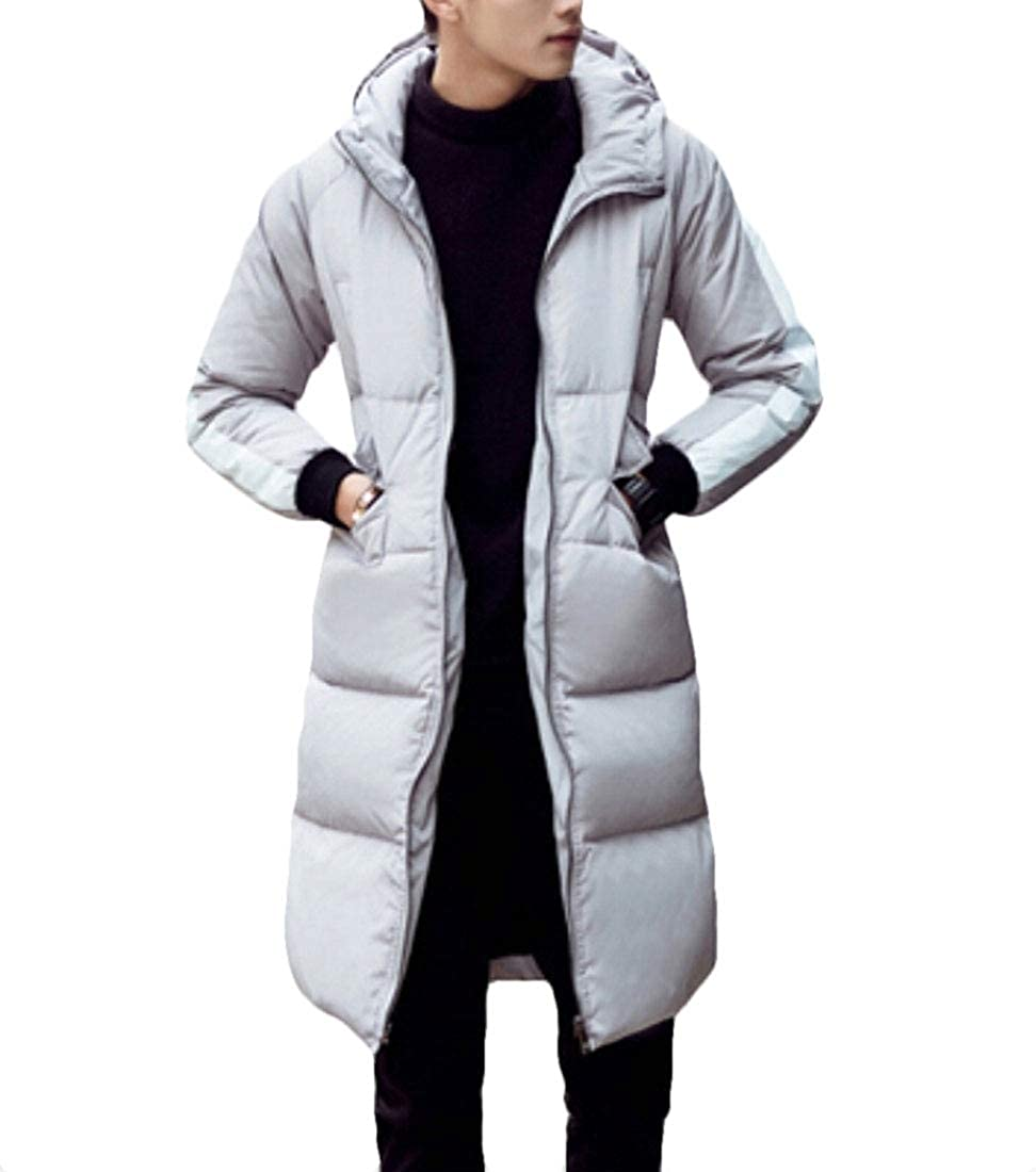 omniscient Mens Fashion Thick Windproof Long Hooded Down Coats Jackets