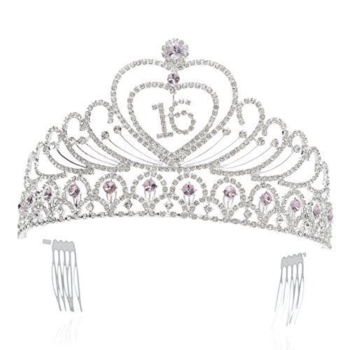 SWEETV Birthday Headband Rhinestone Accessories