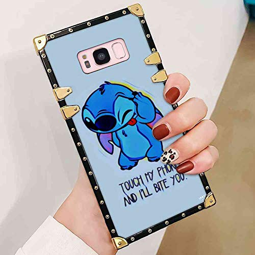 DISNEY COLLECTION Square Case Fit for Samsung Galaxy S8 (5.8in) Stitch Themes Dont Touch My Phone