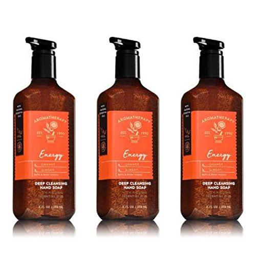 Aromatherapy Ginger Body Wash - Bath & Body Works Aromatherapy Energy Orange Ginger Deep Cleansing Hand Soap Set of 3