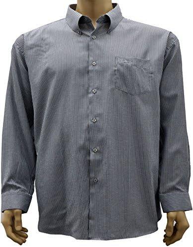 KAM camisa negra de rayas grises grande talla hombre – COLOR GRIS negro XXXXXXL: Amazon.es: Ropa y accesorios
