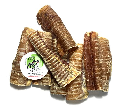 Chip Lola (American Sourced 6-inch Beef Trachea Tubes (8-Pack), Nutrition-Rich Naturally Grain-Free Dog Treats Made in USA, Loaded with Glucosamine and Chondroitin by Sancho & Lola's (smaller sizes available))