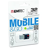 EMTEC Mobile & Go 2 in 1 Flash Drive with USB 3.0 and Micro-USB, 32 GB