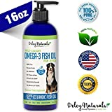 Wild Caught Fish Oil for Dogs - Omega 3-6-9, GMO Free - Reduces Shedding, Supports Skin, Coat, Joints, Heart, Brain, Immune System - Highest EPA & DHA Potency - Only Ingredient is Fish - 16 oz