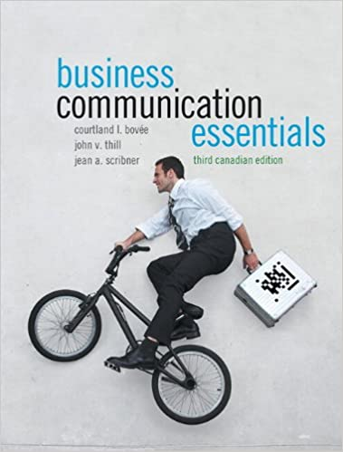 Business Communication Essentials, Canadian Edition