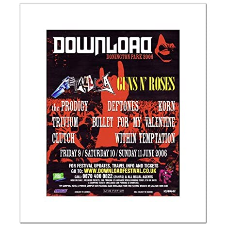 Amazon com: Music Ad World DOWNLOAD FESTIVAL - 2006 - Metallica Guns