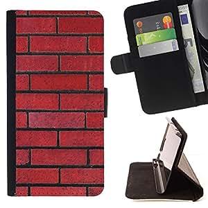 For Apple (4.7 inches!!!) iPhone 6 / 6S Case , Pattern Pared Red Rebel Ley Floyd- la tarjeta de Crédito Slots PU Funda de cuero Monedero caso cubierta de piel