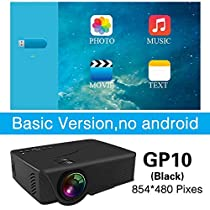 LCD Projectors - LED GP10 Mini Projector for Home Theater Optional Android HDMI Support Full HD 1080P USB SD Video Beamer Proyector - by SINAM - 1 PCs