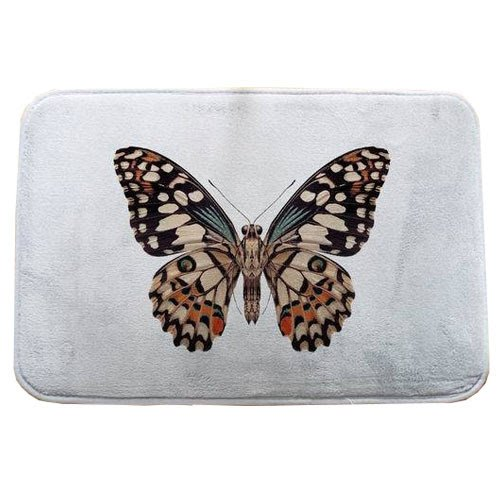 Carpet For Living Room Bedroom Butterfly 40x60cm Rectangle Rugs Coral Velvet Suede Mats tapetes de cozinha home decoration