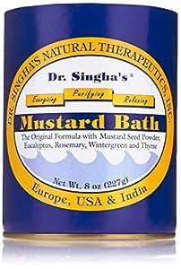 Dr. Singha's Mustard Bath, Therapeutic Bath Salts, 8 Ounce