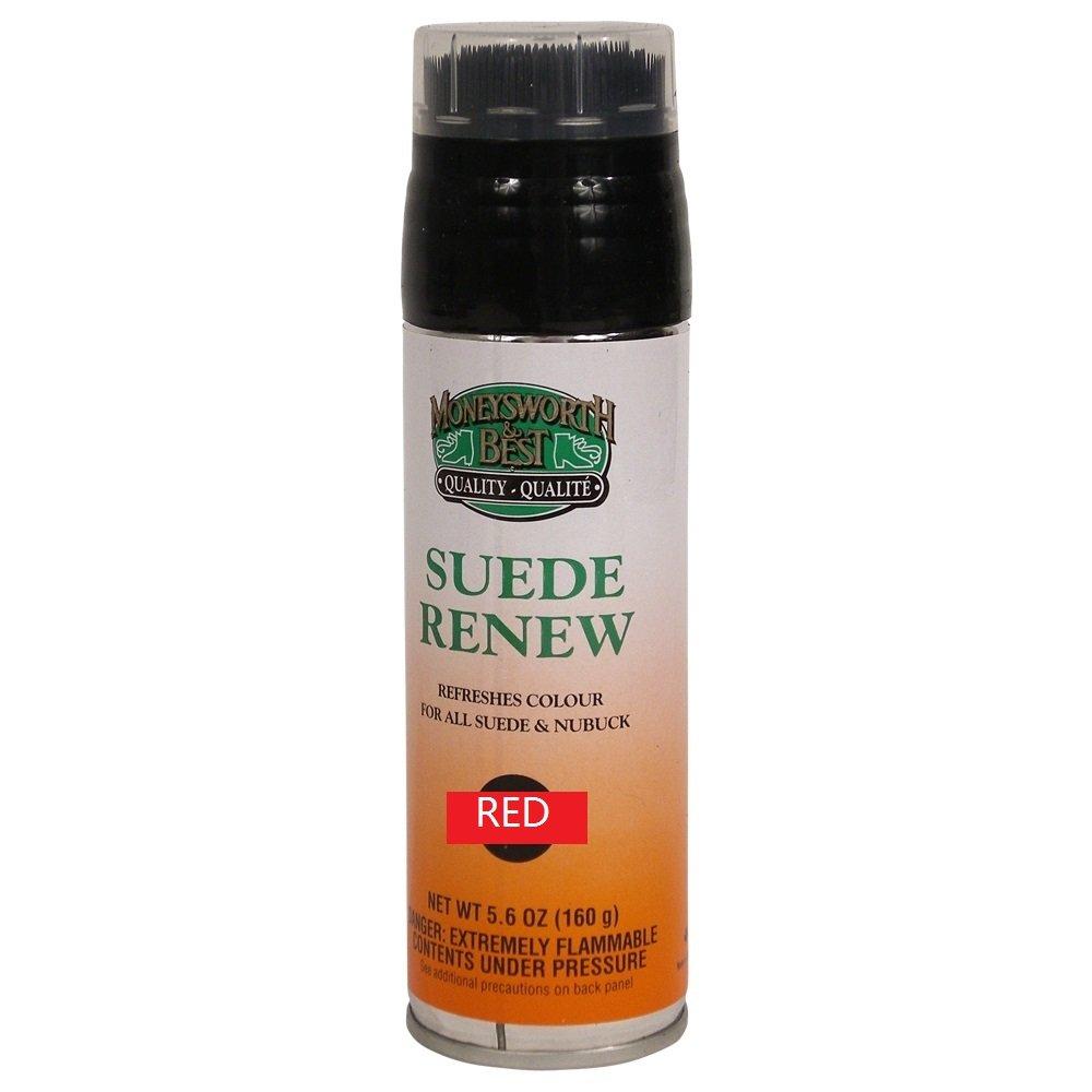 Moneysworth & Best Suede Renew Dye / Conditioner Color Spray 165 g / 5.8 oz, Red