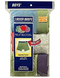 Fruit of the Loom 3Pack Boys Covered Waistband Boxer Briefs Underwear