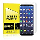 #3: Galaxy S8 Plus Screen Protector,[2-Pack] iTURBOS Full Screen Coverage 3D PET HD Screen Protector Film for Samsung Galaxy S8 Plus.
