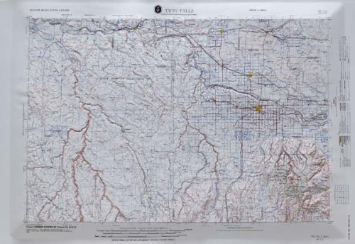 Twin Falls Idaho Raised Relief Map - Idaho Falls Stores