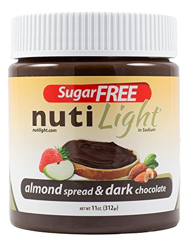 Nutilight - Sugar Free - Almond Spread & Dark Chocolate - 11 oz Jar