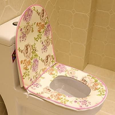 Cojines de asiento de inodoro cremalleras wc vueltas cojines ...