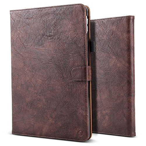 New iPad Pro 12.9 2017 Case,BELK Vintage Luxury Leather F...