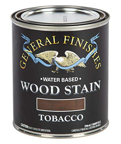 - General Finishes WTTQ Water Based Wood Stain, 1 Quart, Tobacco