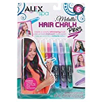 Alex Spa 5 Metallic Hair Chalk Pens Girls Fashion Activity