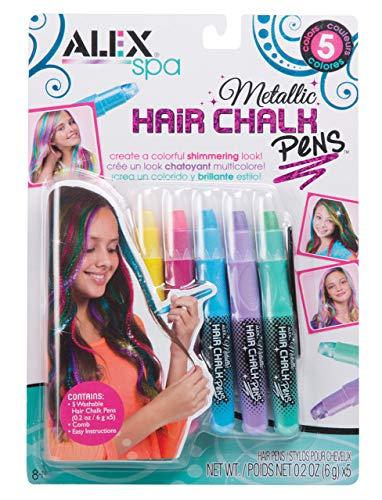 (ALEX Toys Spa 5 Metallic Hair Chalk Pens)