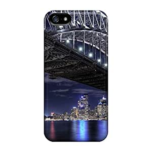 New TFnMABo1333SmKct Beautiful Bridges Free Bridge To The City Skin Case Cover Shatterproof Case For Iphone 5/5s