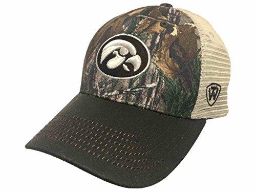Iowa Hawkeyes TOW Camouflage Mesh Logger Adjustable Snapback Hat Cap (Hawkeyes Camo Iowa)