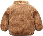 SNOWSONG Toddler Girls Polar Fleece Lined Sherpa Full-Zip Jacket Solid Warm Winter Coat Outwear