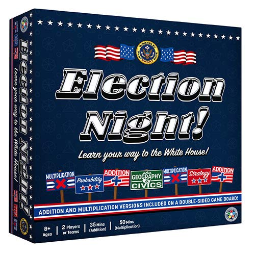Election Night! Board Game - Winner of 2019 Parents Choice Gold Award. A Super Fun Way to Learn Essential Math, Geography and Civics While Strategizing Your Way to The White - Choice Gold Parents Award