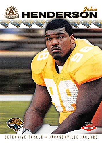 - 2002 Pacific Adrenaline Football Card #131 John Henderson RC Rookie Card Official NFL Trading Card