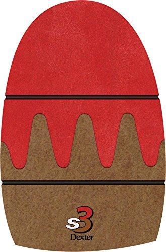 Dexter The 9 Sole Shorter Slide 3 Sawtooth Bowling Shoe, Brown, Medium (Men's 9-10.5, Women's 11) by Dexter