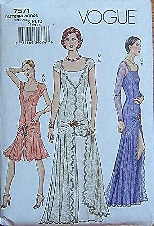 VOGUE mehrgrößen Schnittmuster 7571 - Kleid, Abendkleid, Brautkleid ...