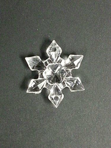 CraftbuddyUS AS2 100 Clear Sew on Acrylic Crystal Snowflakes Sewing Wedding Table Decoration