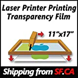 "(100 sheets,11""x17"") Laser Printer Transparency Film Paper for Silk Screen Printing,,great for hp,canon,oki,brother,epson laser printers"