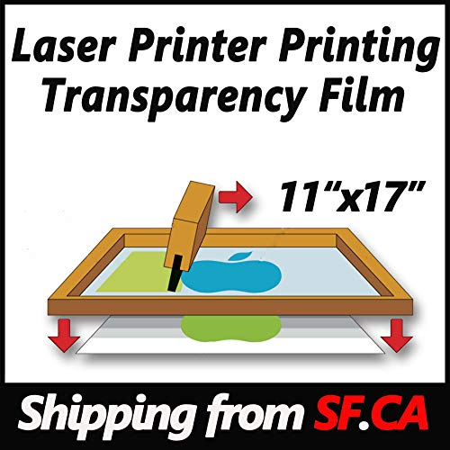 Laser Printer Printing Transparency Film for Silk Screen Printing,great for EPSON,HP,OKI,CANON,BROTHER Laser Printers ()