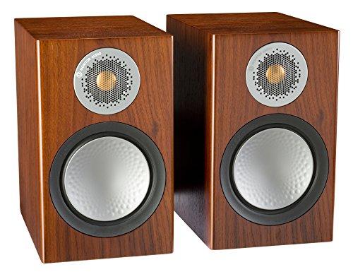 Monitor Audio Silver 50 Bookshelf Speakers Pair - Walnut