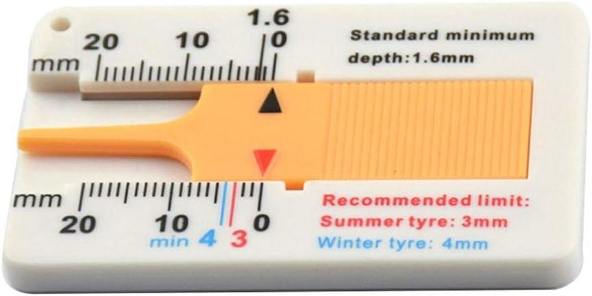 Bomcomi 0-20mm Auto Reifenprofil Tiefenmesser Caliper Auto-Motorrad-Anh/änger Rad Messen Car-Styling-Reparatur-Werkzeug