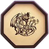 Fantasydice - ROLL OR DIE- Dice Tray - 11.5'' Octagon - For Dice, Board Games, Tabletop RPGs Like D&D (DND) 3.5 and 5e, Call of cthulhu, Pathfinder,Shadowrun and other Roleplaying Games