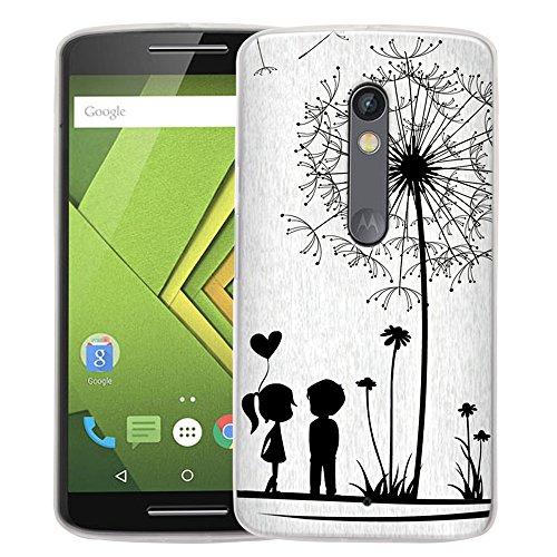 Droid Maxx 2 Case, Harryshell Dandelion Tree Tpu Gel Flexible Silicone Soft Case Cover Skin Protective for Motorola Moto Droid Maxx 2 / Moto X Play