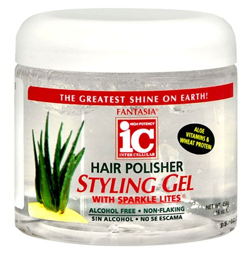 - Fantasia High Potency IC Hair Polisher Styling Gel, with Sparkle Lites, 16 oz.